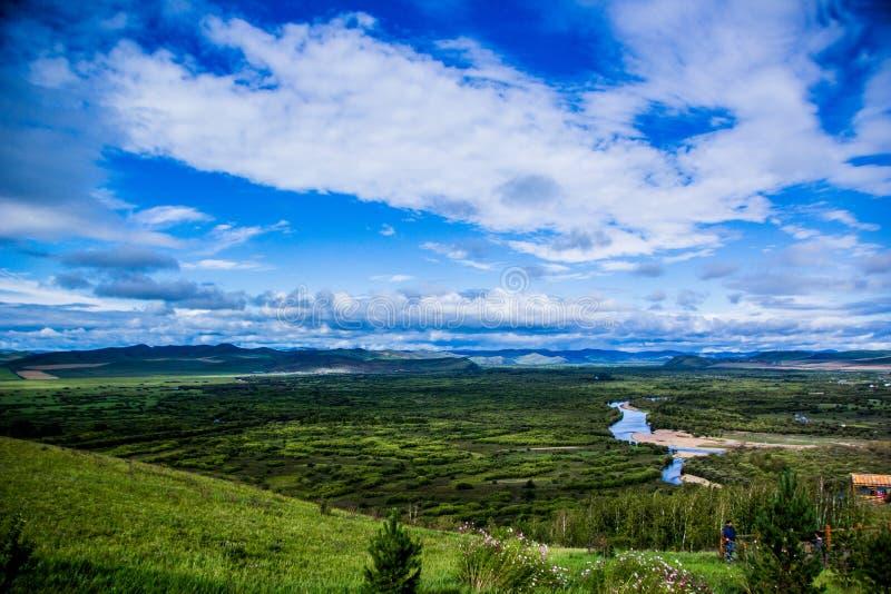 Wewnętrzna Mongolia rzeka obraz royalty free