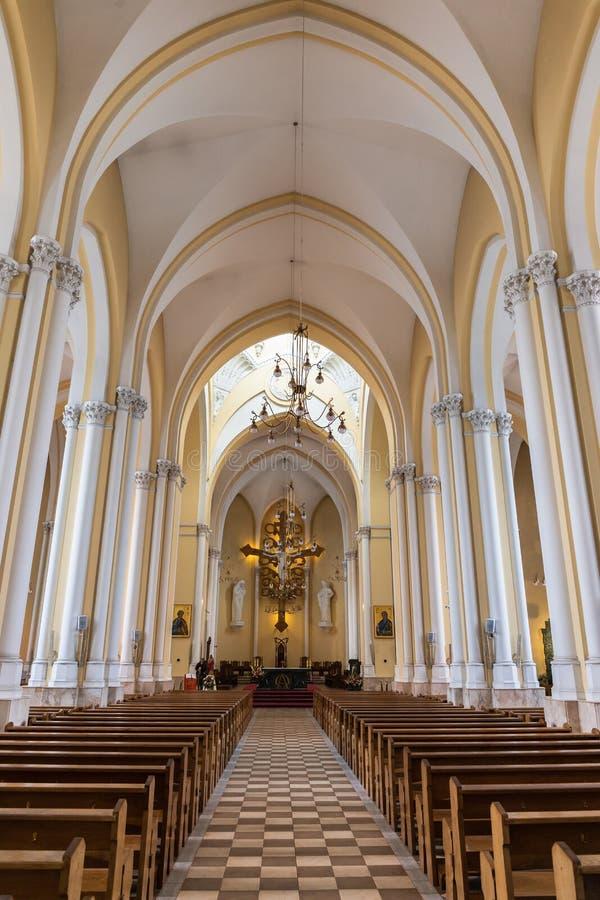 Wewnętrzna Rzymskokatolicka katedra Niepokalany poczęcie o zdjęcia stock