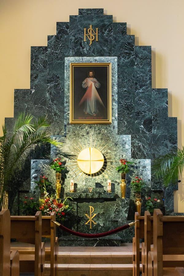 Wewnętrzna Rzymskokatolicka katedra Niepokalany poczęcie o obraz royalty free