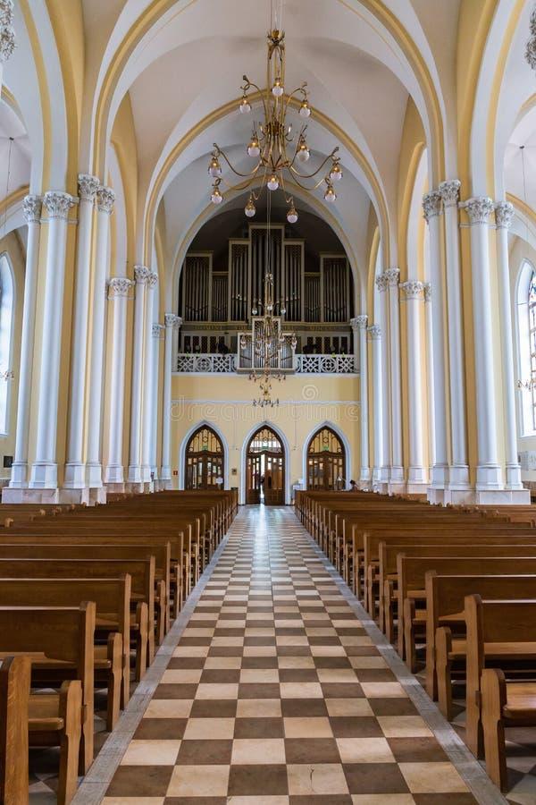 Wewnętrzna Rzymskokatolicka katedra Niepokalany poczęcie o fotografia stock