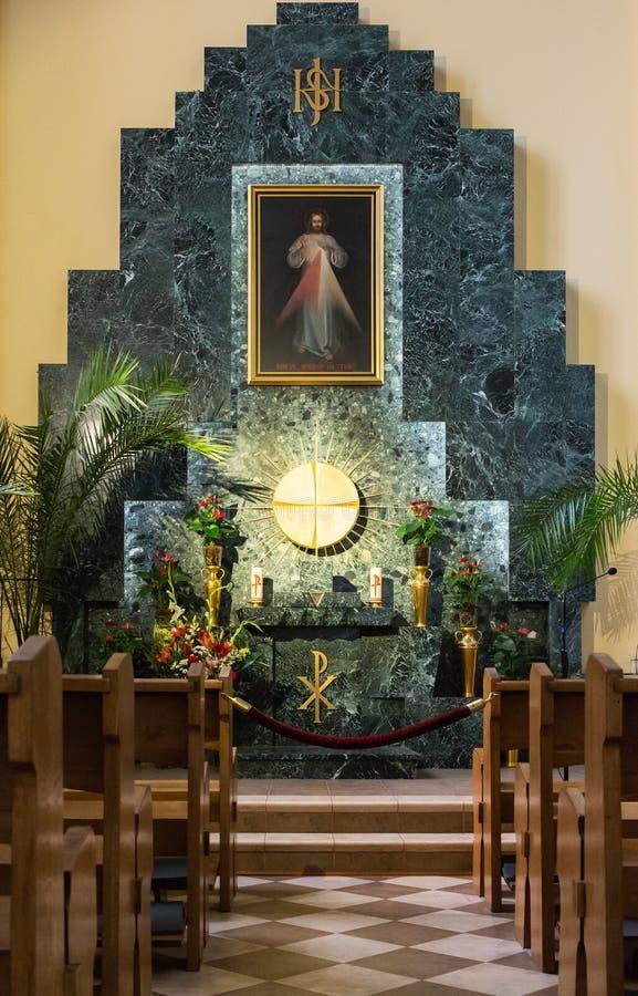 Wewnętrzna Rzymskokatolicka katedra Niepokalany poczęcie o fotografia royalty free