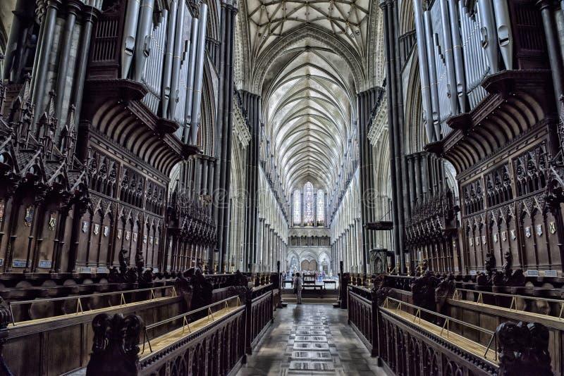 Wewnętrzna Salisbury katedra zdjęcia stock