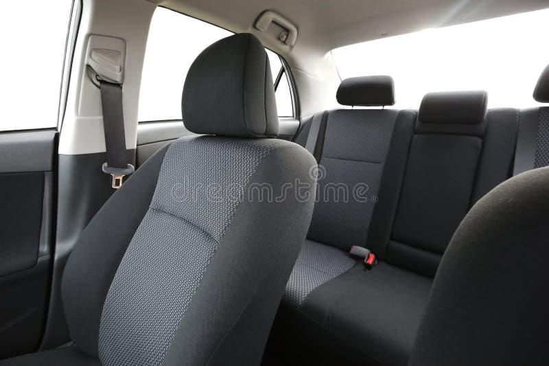 wewnętrzna samochodu w skórzany prędkość strony pojazdu zdjęcia stock