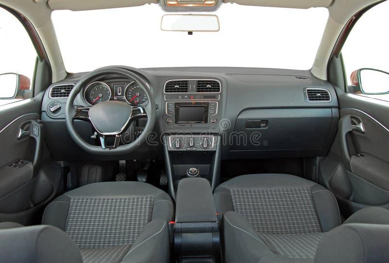 wewnętrzna samochodu w skórzany prędkość strony pojazdu obrazy royalty free