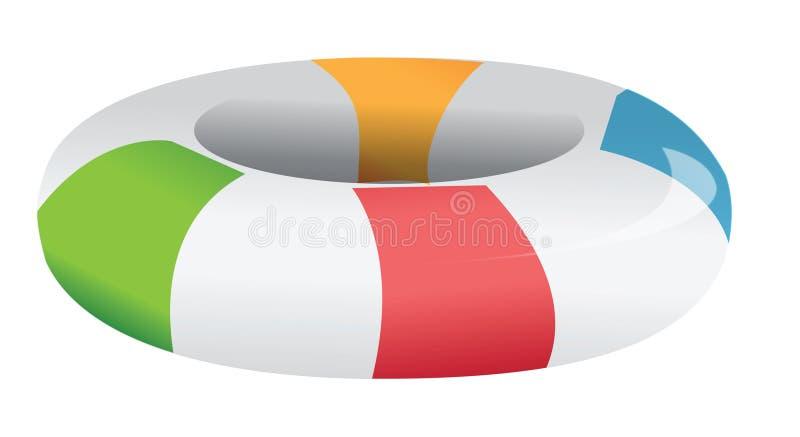 wewnętrzna tubka ilustracja wektor