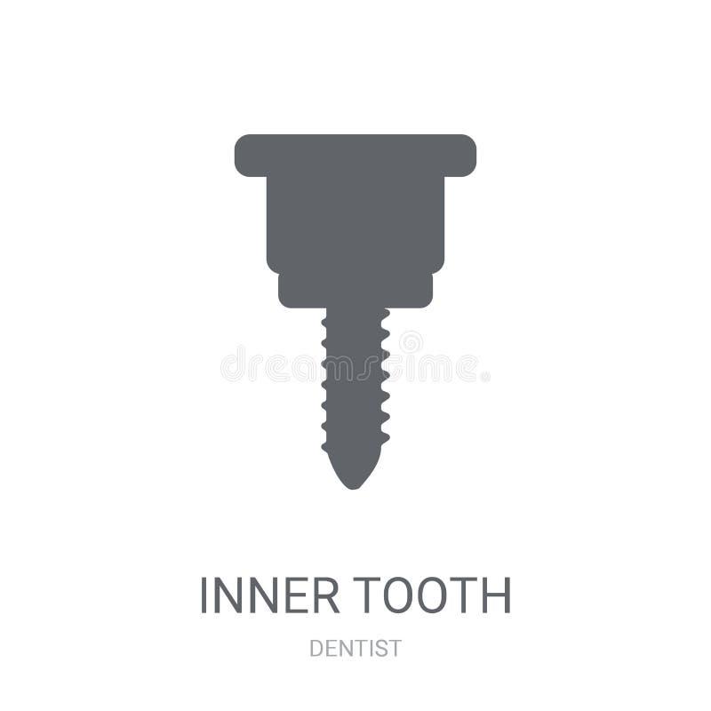 Wewnętrzna ząb ikona  ilustracja wektor