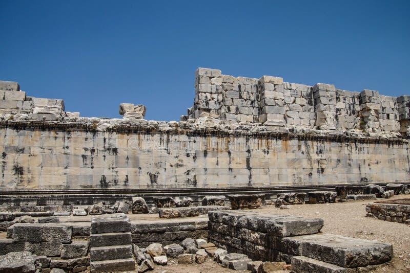 Wewnętrzne ashlar ściany Apollo świątynia obrazy stock