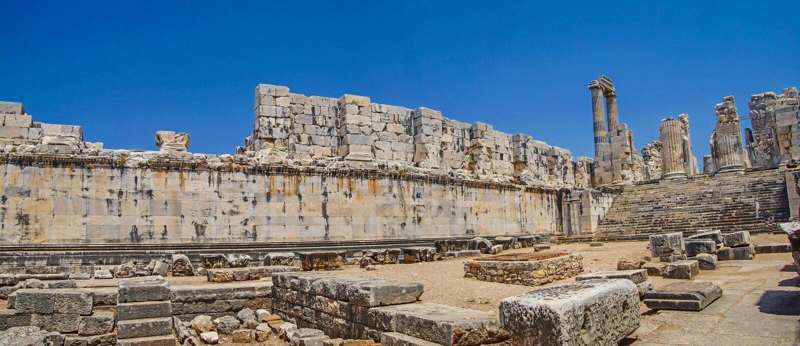 Wewnętrzne ashlar ściany Apollo świątynia obraz royalty free