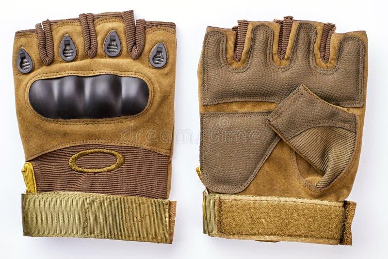 Wewnętrzne i zewnętrznie militarne fingerless rękawiczki obrazy stock