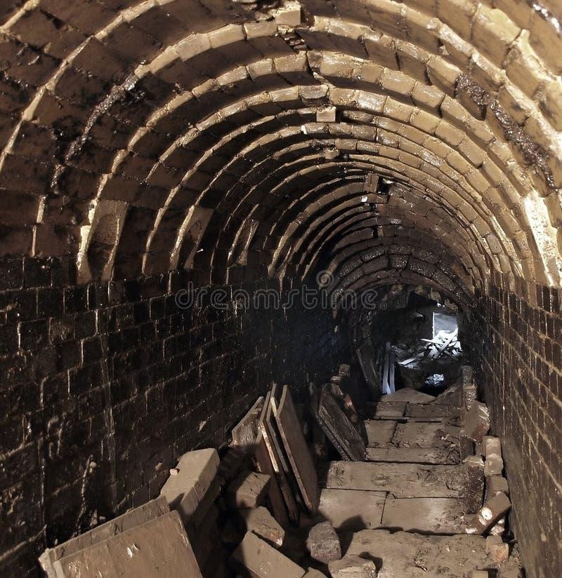 wewnętrznego kiln stary garncarstwo zdjęcie stock