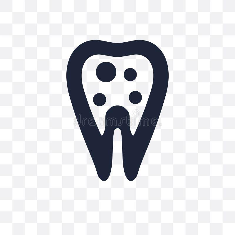 Wewnętrznego zębu przejrzysta ikona Wewnętrzny zębu symbolu projekt od meliny ilustracja wektor
