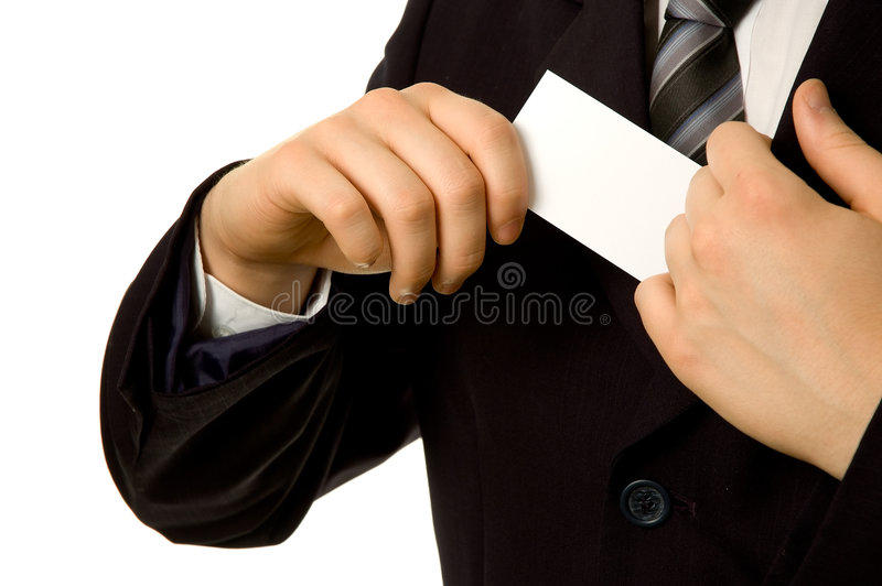 wewnętrznej kieszeni wizytówkę obraz stock