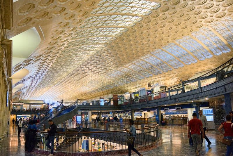 Wewnętrznej sala zjednoczenia Waszyngtońska stacja, stacja kolejowa budynek fotografia royalty free