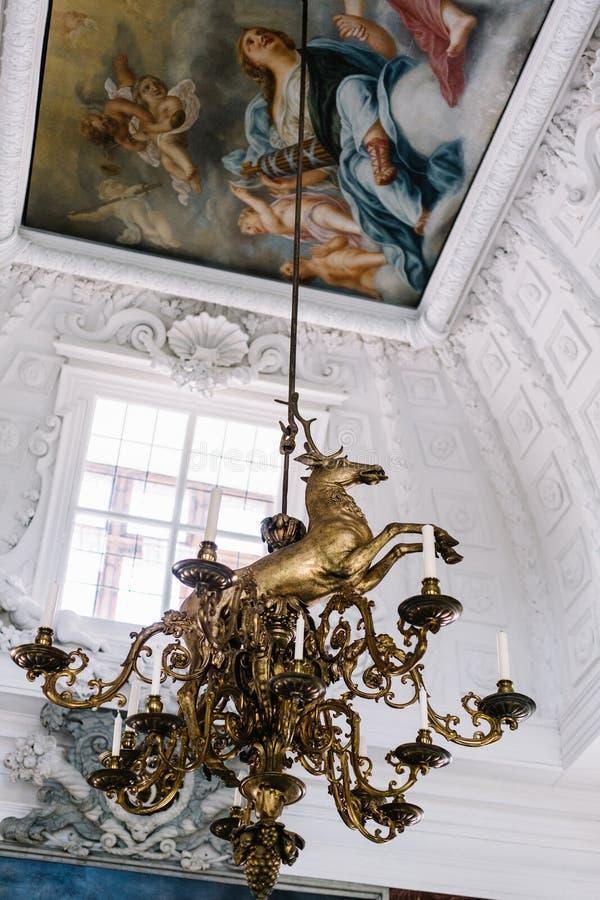 Wewnętrzni szczegóły Frederiksborg Roszują w Hillerod, Dani zdjęcie royalty free
