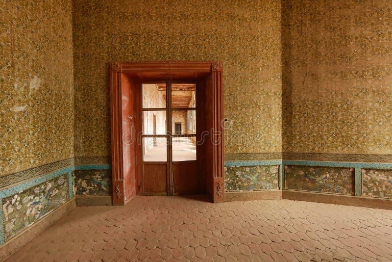 Wewnętrzni szczegóły zaniechane hacjendy jaral De Berrio zdjęcia stock