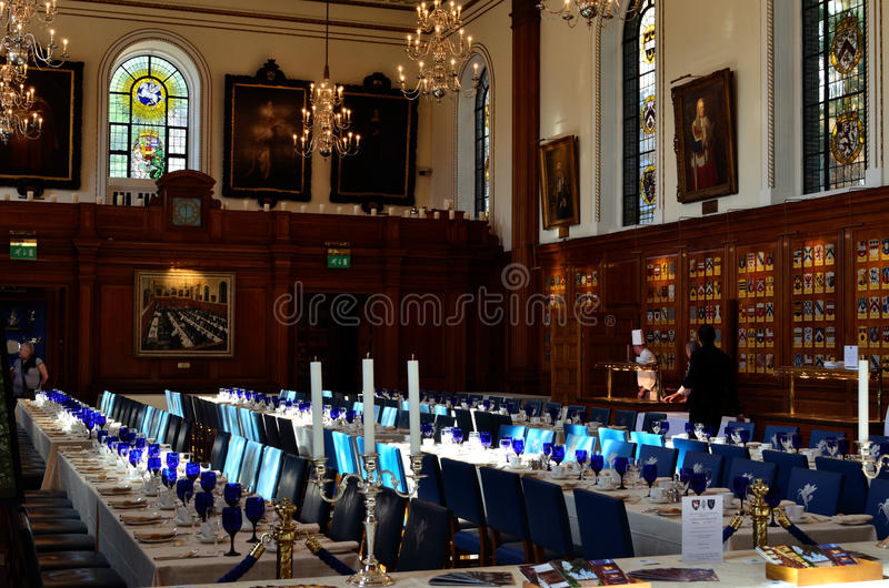 Wewnętrzny Świątynny Hall Londyn zdjęcie royalty free
