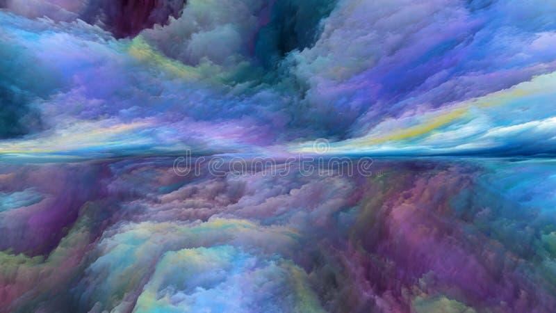 Wewnętrzny życie abstrakta krajobraz ilustracja wektor