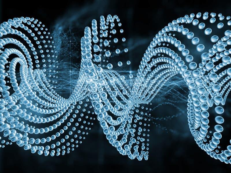 Wewnętrzny życie DNA ilustracji