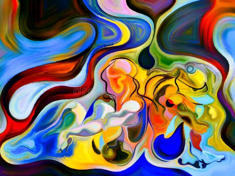 Wewnętrzny życie jaźń kształty ilustracja wektor