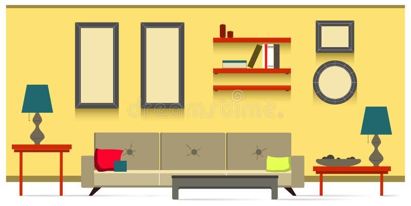 Wewnętrzny żywy pokój zdjęcia stock