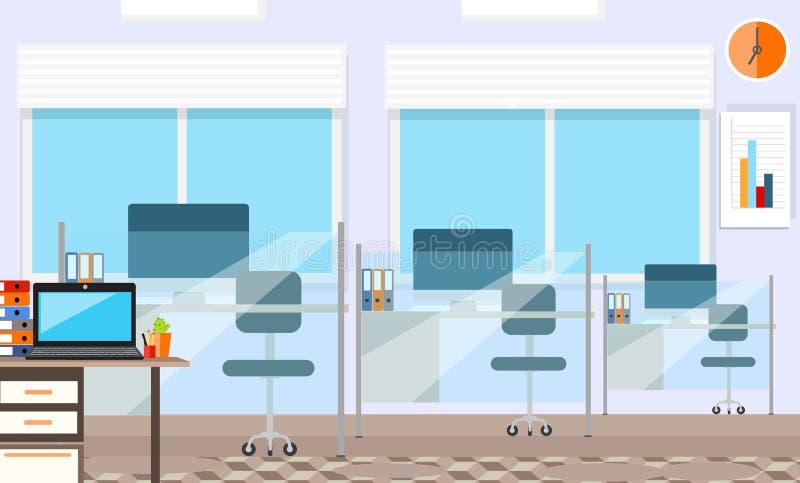 Wewnętrzny biurowy pokój Wektorowa ilustracja dla ilustracji