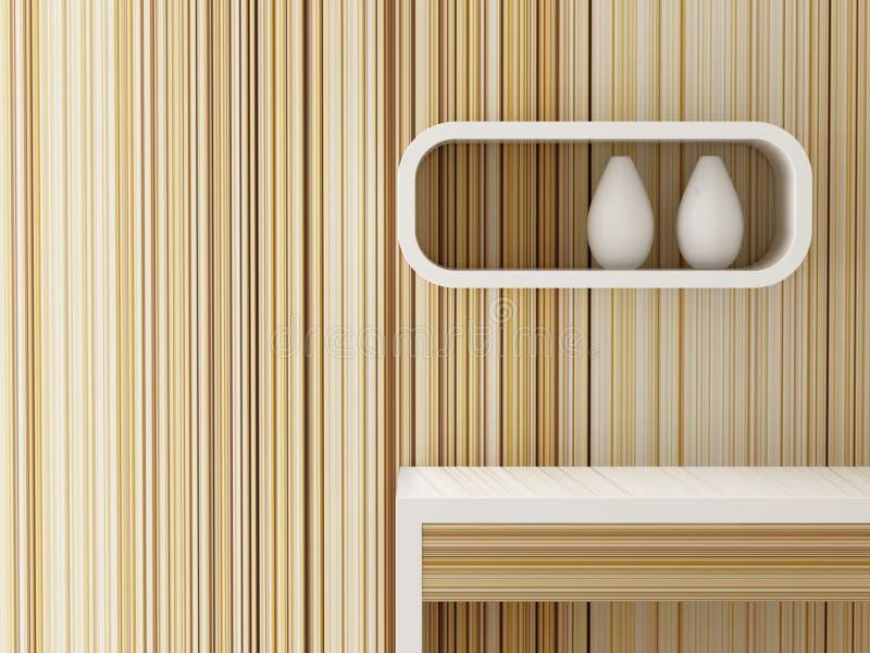 Wewnętrzny desing żywy pokój dekoruję ilustracja wektor