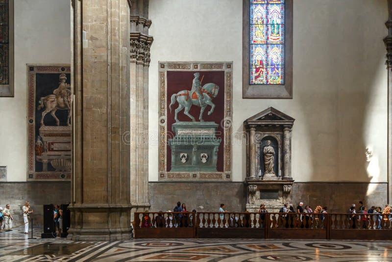 Wewnętrzny Florencja Duomo zdjęcia royalty free