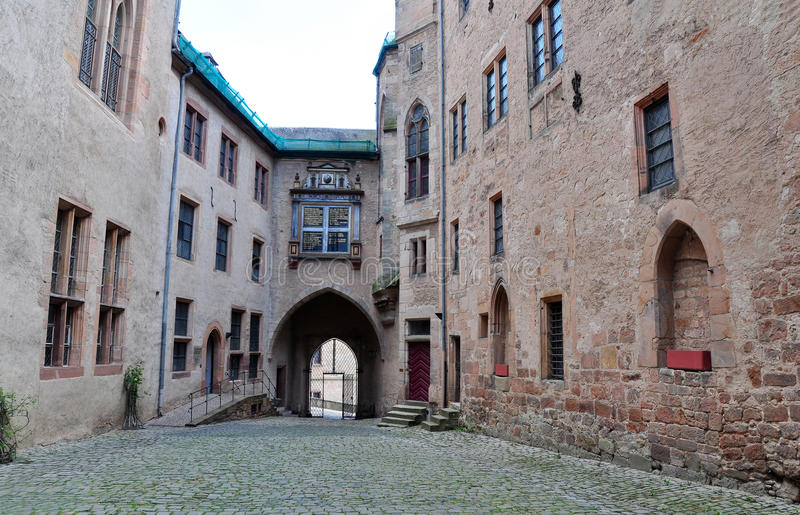 Wewnętrzny jard Marburg kasztel, Marburg obraz stock