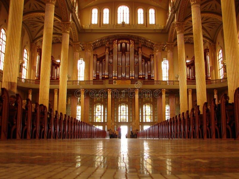 wewnętrzny katedra ii fotografia stock