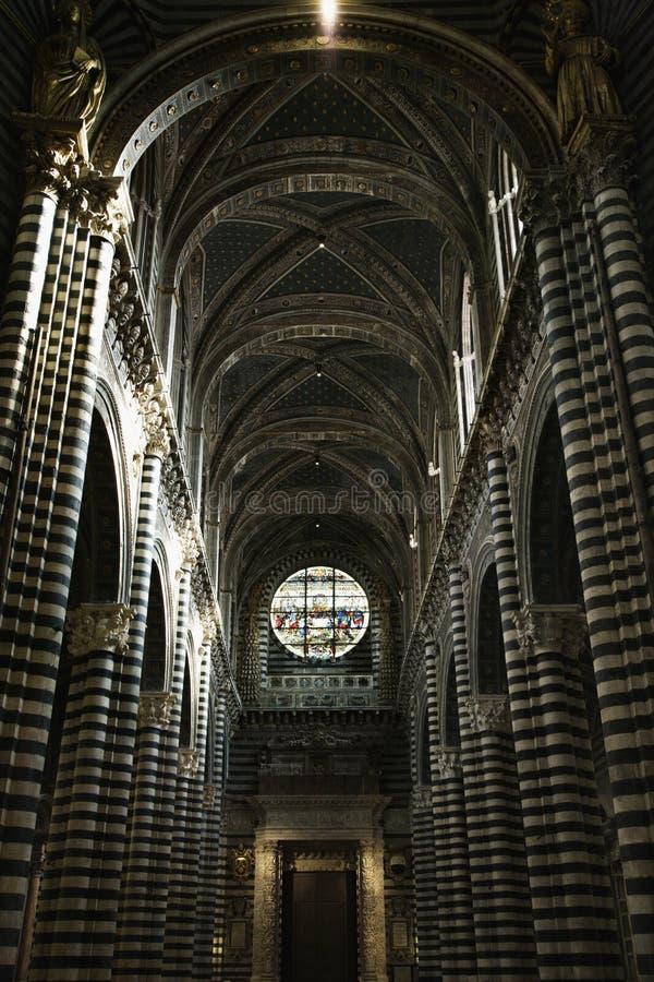 wewnętrzny katedralny Siena fotografia stock