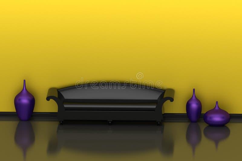 wewnętrzny kolor żółty ilustracja wektor