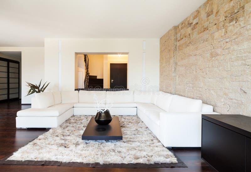 Wewnętrzny luksusowy mieszkanie fotografia stock