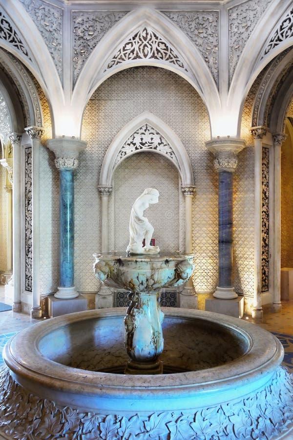 Wewnętrzny Luksusowy Ozdobny pałac budynek obrazy royalty free