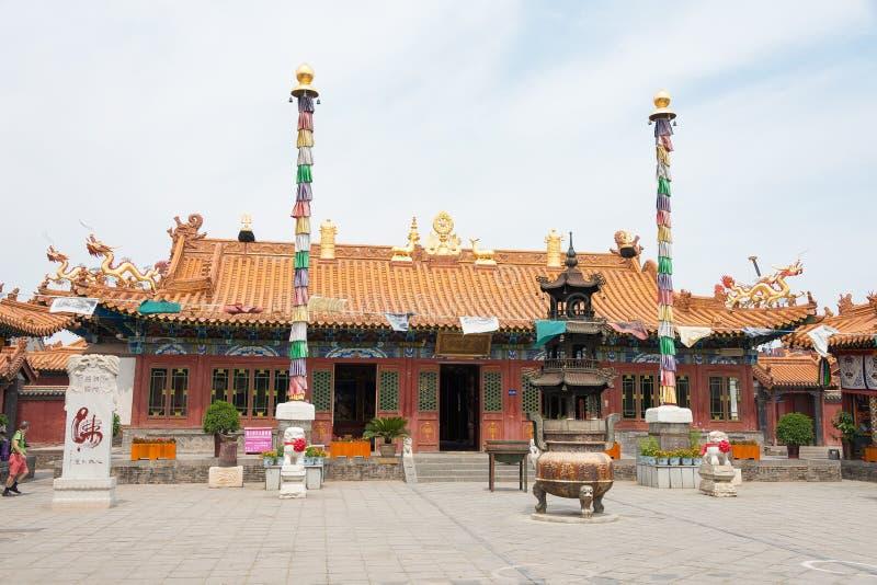 WEWNĘTRZNY MONGOLIA CHINY, Aug, - 13 2015: Dazhao Lamasery sławny h zdjęcia royalty free
