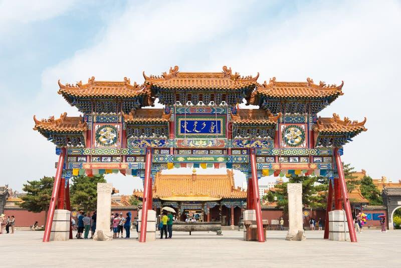 WEWNĘTRZNY MONGOLIA CHINY, Aug, - 13 2015: Dazhao Lamasery sławny h zdjęcie stock