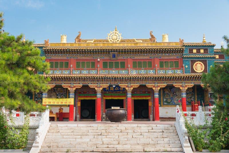 WEWNĘTRZNY MONGOLIA CHINY, Aug, - 13 2015: Xilitu Zhao świątynia (Shiretu zdjęcie stock