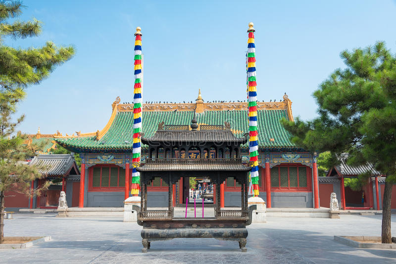 WEWNĘTRZNY MONGOLIA CHINY, Aug, - 13 2015: Xilitu Zhao świątynia (Shiretu fotografia stock