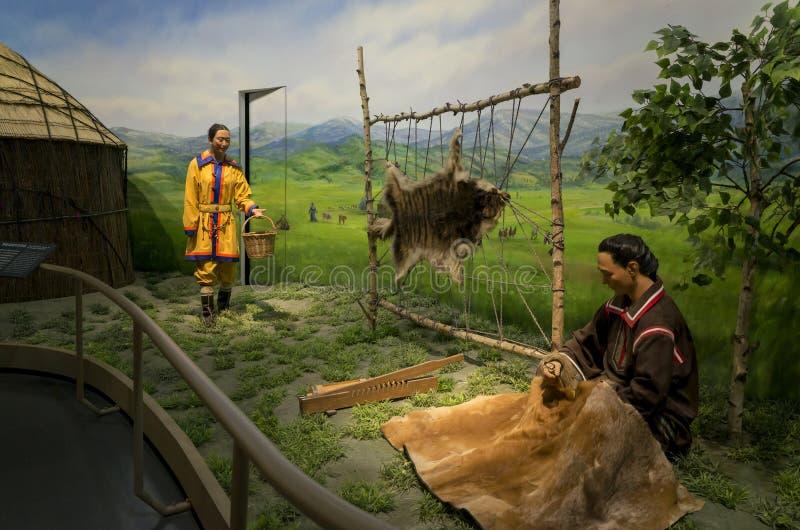 Wewnętrzny Mongolia muzeum zdjęcia royalty free