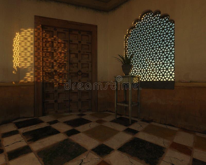 wewnętrzny moroccan royalty ilustracja
