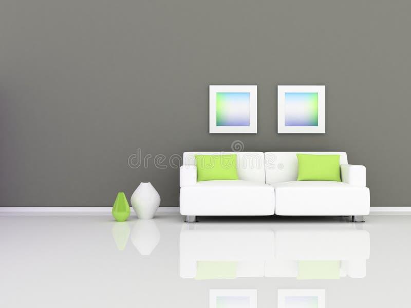 wewnętrzny nowożytny pokój ilustracji