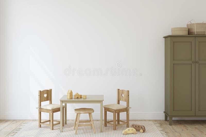 wewnętrzny playroom 3 d czynią ilustracja wektor