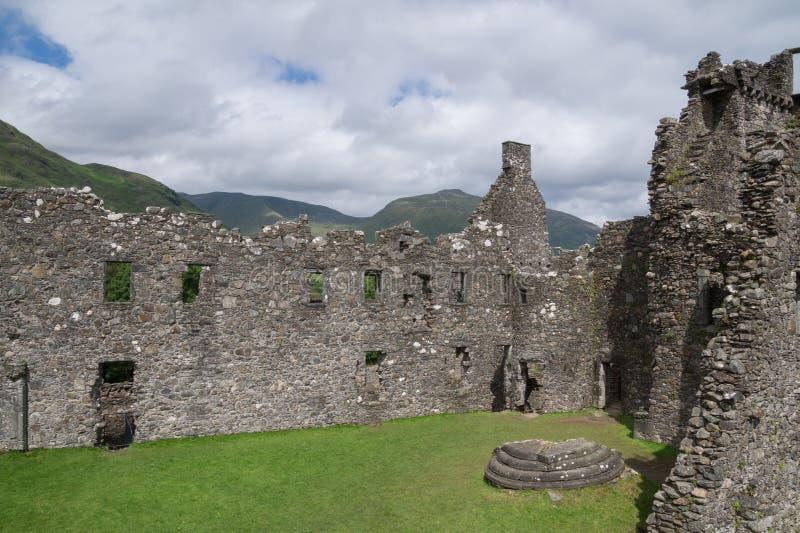 Wewnętrzny podwórze Kilchurn kasztel, Loch respekt, Argyll i Bute, Szkocja zdjęcie royalty free