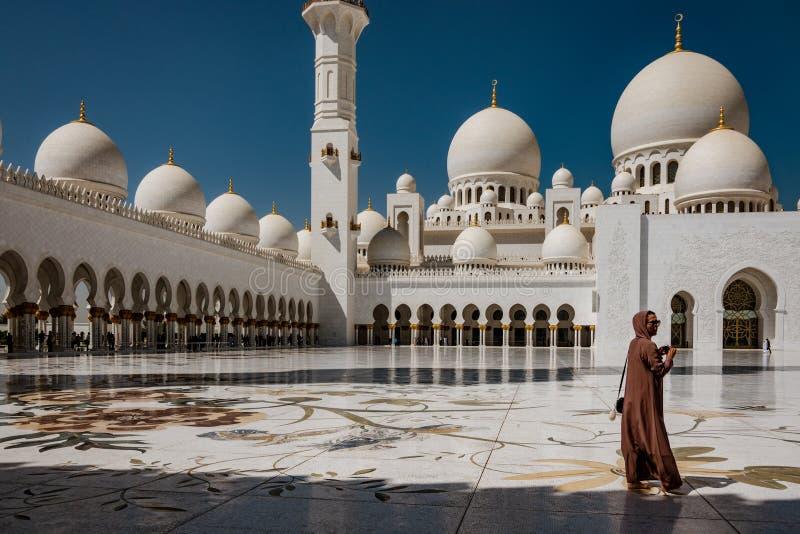 Wewnętrzny podwórze Sheik Zayed meczet zdjęcie royalty free