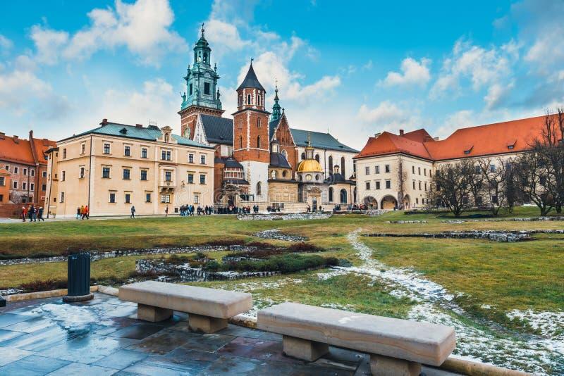 Wewnętrzny podwórze Wawel kasztel w Krakowskim, Polska zdjęcie royalty free