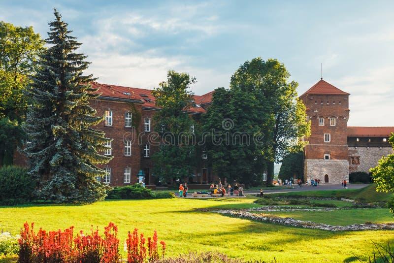 Wewnętrzny podwórze Wawel kasztel w Krakowskim, Polska zdjęcie stock