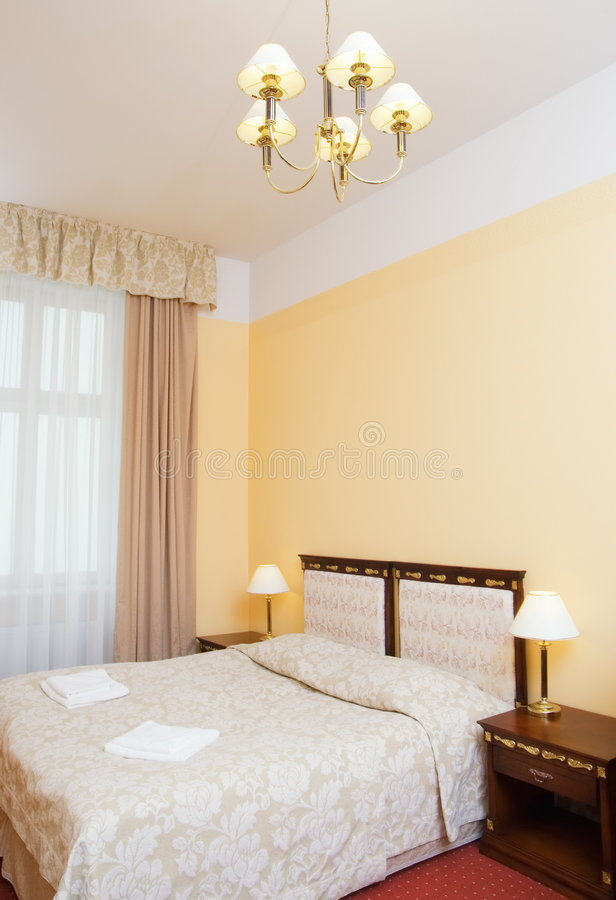 wewnętrzny pokój hotelowy obrazy stock