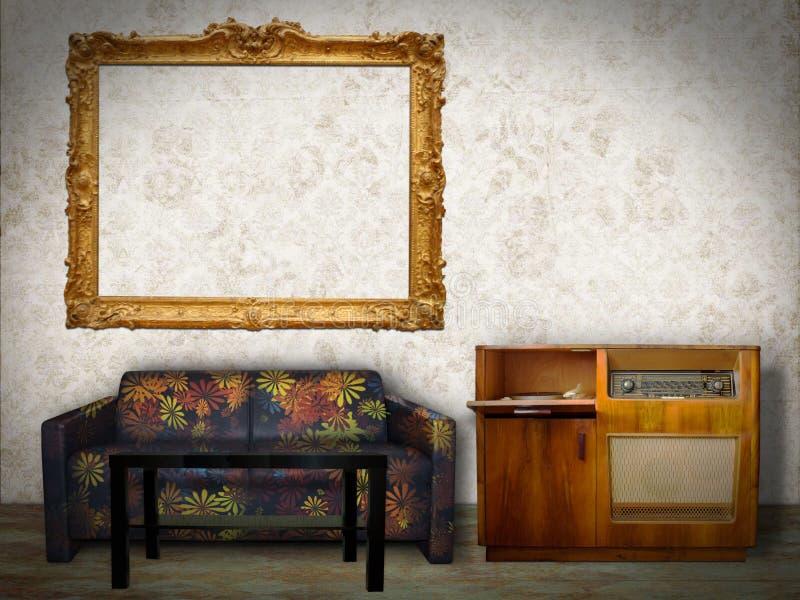 Wewnętrzny pokój z obrazek ramą zdjęcia royalty free