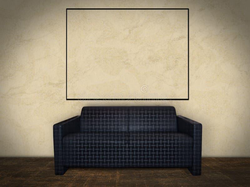 Wewnętrzny pokój z obrazek ramą obrazy royalty free