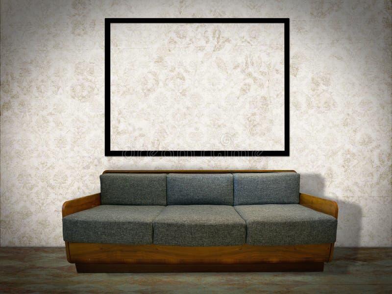 Wewnętrzny pokój z obrazek ramą fotografia stock