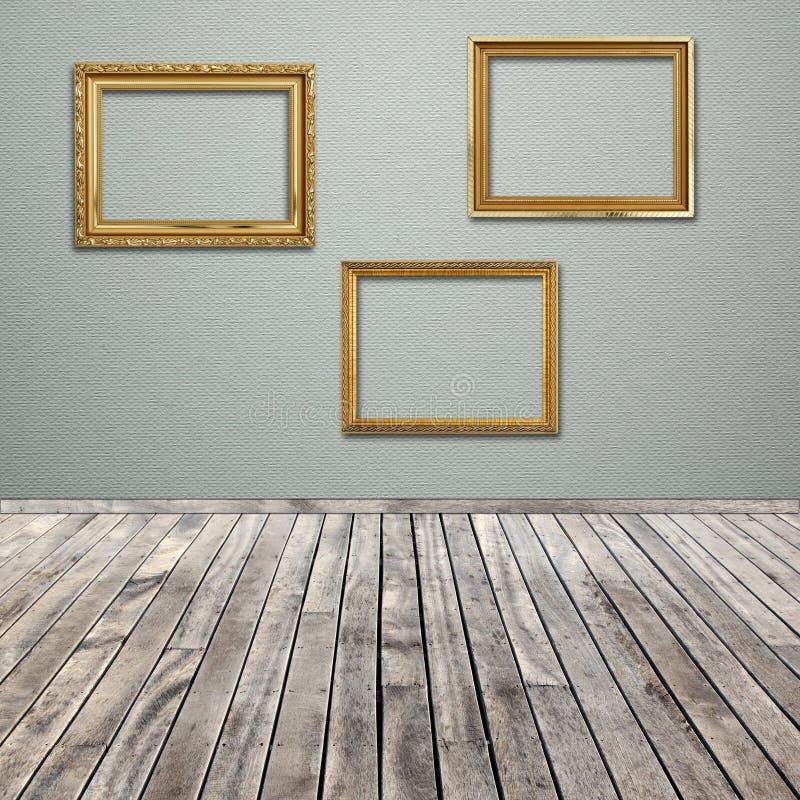 Wewnętrzny pokój z pustą obrazek ramą obrazy stock